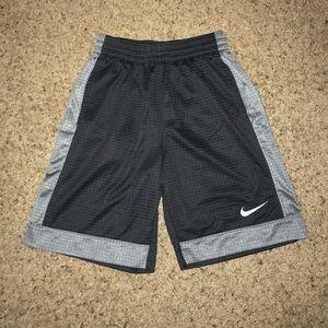 Boys Gray and Black Nike Athletic Shorts